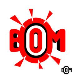 inscription boom vector image vector image