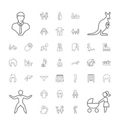 37 young icons vector