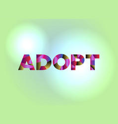 Adopt concept colorful word art vector