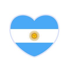 Argentina flag in a shape heart icon flat vector