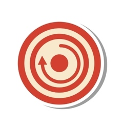 Arrow target isolated icon vector