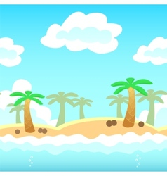 Beach Game Background vector image