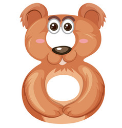 bear on number six vector image