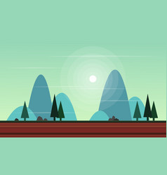 Beauty landscape for game background vector