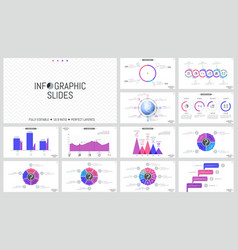 big collection of simple infographic design vector image