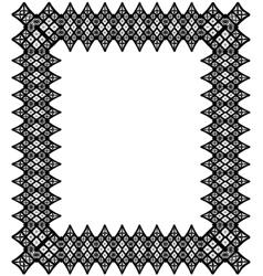 Black lace frame vector