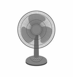 Black table fan vector