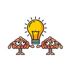 bulb brains vector image