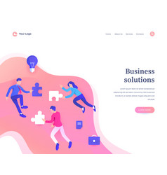 business solutions concept workflow flying vector image