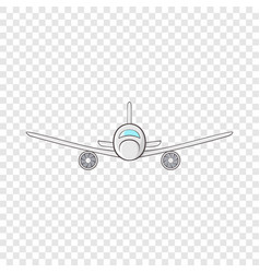 Cargo plane icon in cartoon style vector