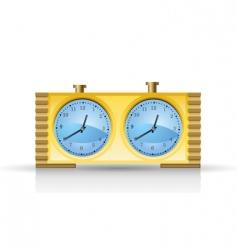 chess clock vector image
