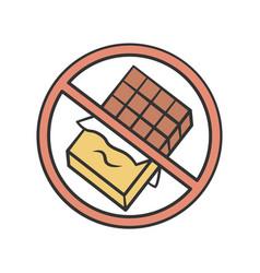 chocolate free product color icon no sugar vector image