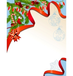Christmas background with garland vector