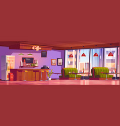 coffee shop or cafe interior empty cafeteria vector image
