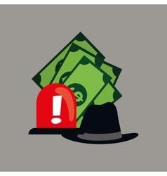 Counterfeiter money design vector