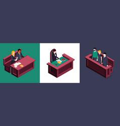 Court justice design concept vector