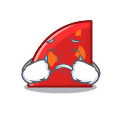 Crying quadrant mascot cartoon style vector