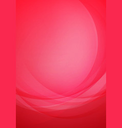 curved abstract red background vector image