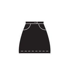 denim skirt black concept icon denim skirt vector image