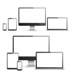 Devices with white screens vector