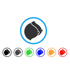 Female tits rounded icon vector
