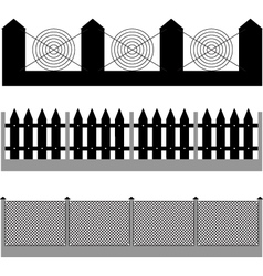 fence silhouette vector image