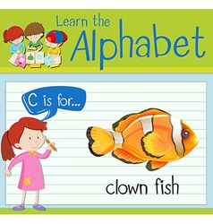 Flashcard letter c is for clown fish vector