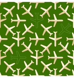 Flat styled seamless pattern with missing planes vector