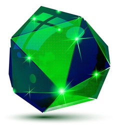 Futuristic object with sparkling effect 3d vector