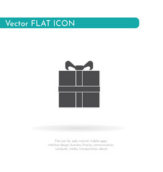 gift icon for web business finance and vector image