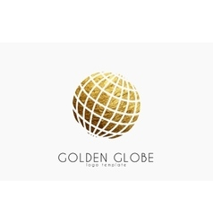Globe sign Golden globe logo Creative logo vector image