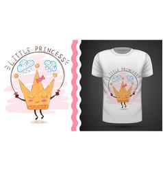 Gold crown - idea for print t-shirt vector