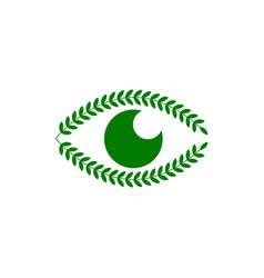 green eye laurel wreath vector image
