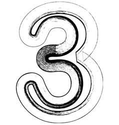 Grunge Font number 3 vector
