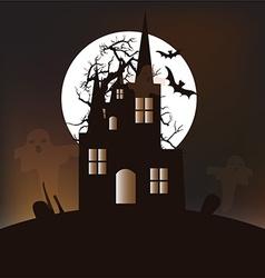Halloween castle background vector