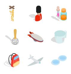 Handicraft icons set isometric style vector
