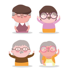 happy grandparents day cartoon design vector image