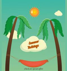 holidays with palms vector image