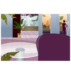 Hotel interior vector image