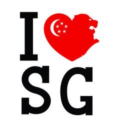 I love singapore typography vector