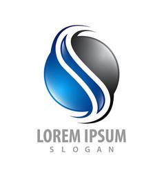 logo concept design circle letter s symbol vector image