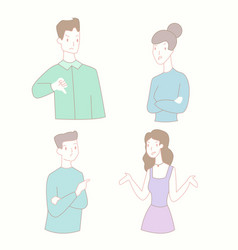 man and woman relationship conflict flat vector image