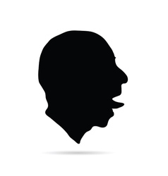 man head art silhouette vector image