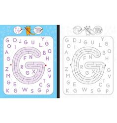 Maze letter g vector