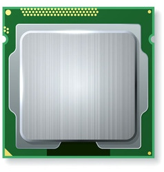 Modern computer core processing unit CPU isolated vector image