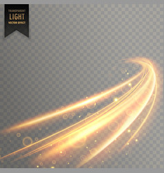 Neon transparent golden light effect background vector