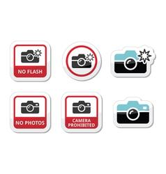 No photos no cameras no flash icons vector image