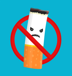 no smoking sign and angry bad danger vector image