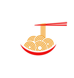 Noodles food sign symbol vector