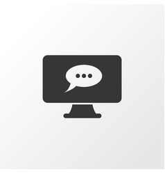 online task chat icon symbol premium quality vector image